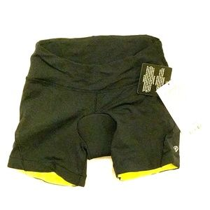 NWT Lululemon Biker Bike Black Reflective Shorts 4